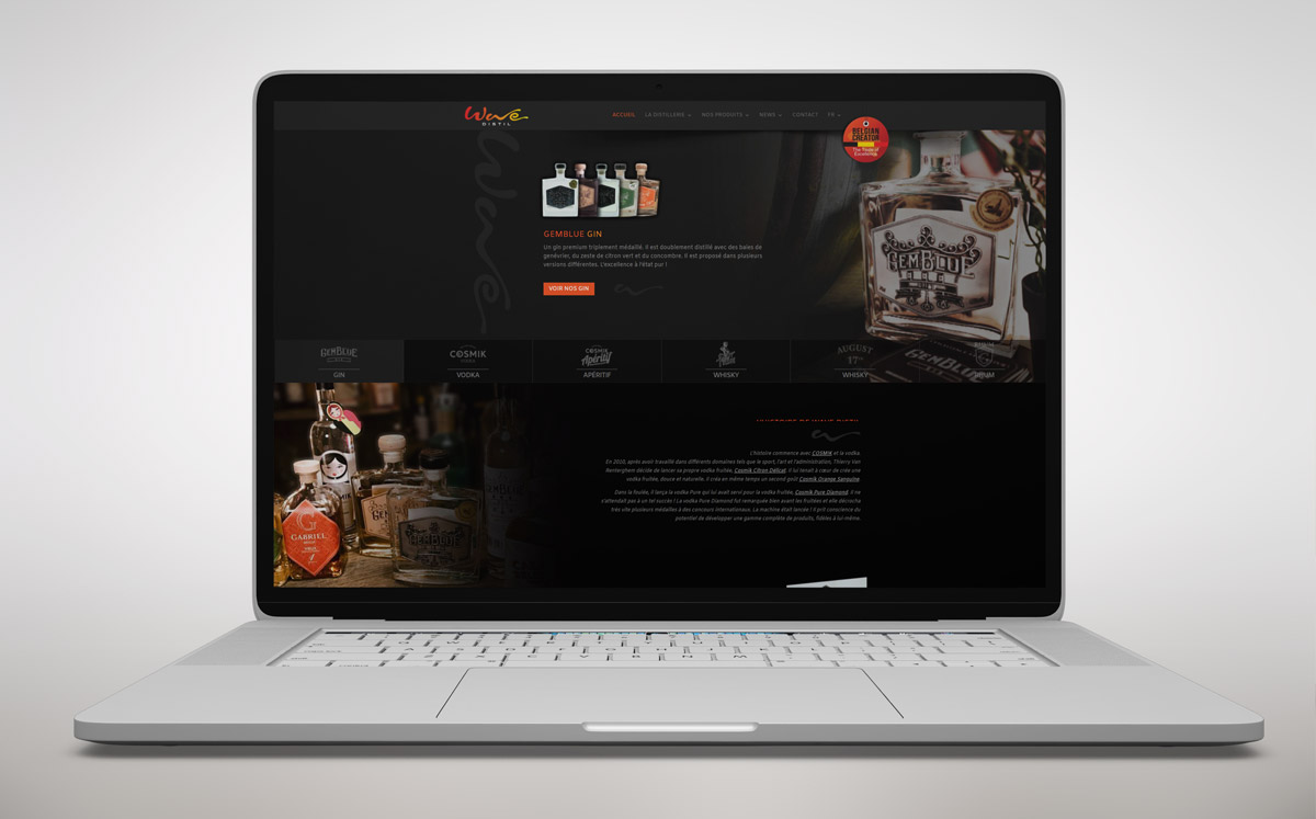 Distillerie Dinant : Whisky / Gin / Rhum / Vodka